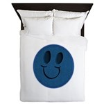 Blue Jeans Smiley Queen Duvet