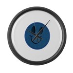 Blue Jeans Smiley Large Wall Clock