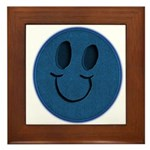 Blue Jeans Smiley Framed Tile