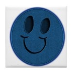Blue Jeans Smiley Tile Coaster
