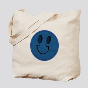 Blue Jeans Smiley Tote Bag