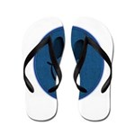 Blue Jeans Smiley Flip Flops