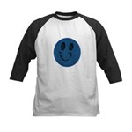 Blue Jeans Smiley Kids Baseball Jersey