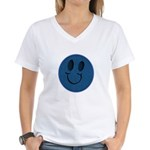 Blue Jeans Smiley Women's V-Neck T-Shirt