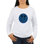 Blue Jeans Smiley Women's Long Sleeve T-Shirt