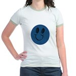 Blue Jeans Smiley Jr. Ringer T-Shirt