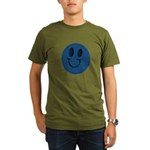 Blue Jeans Smiley Organic Men's T-Shirt (dark)