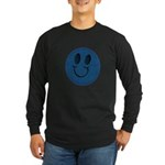 Blue Jeans Smiley Long Sleeve Dark T-Shirt