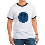 Blue Jeans Smiley Ringer T