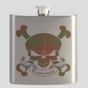 Cameron Tartan Skull Flask