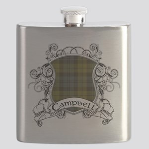 Campbell Tartan Shield Flask