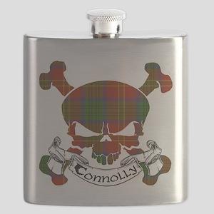 Connolly Tartan Skull Flask