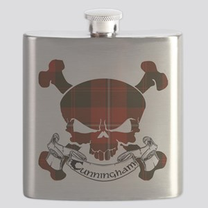 Cunningham Tartan Skull Flask