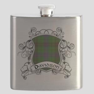 Davidson Tartan Shield Flask