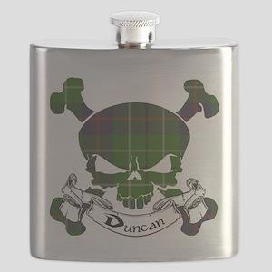 Duncan Tartan Skull Flask