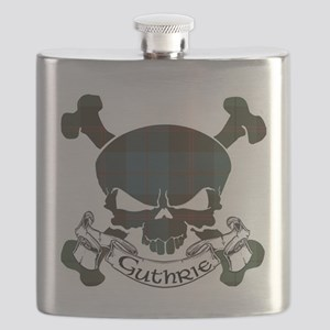 Guthrie Tartan Skull Flask