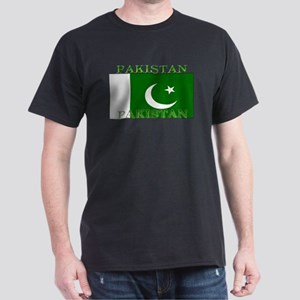 Pakistan Pakistani Flag Black T-Shirt