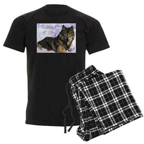 Alpha Wolf Men's Dark Pajamas
