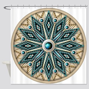 Native American Rosette 08 Shower Curtain