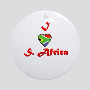 I Love South Africa Ornament (Round)