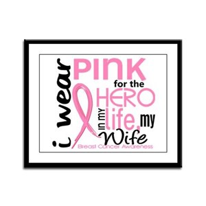 Hero In Life 2 Breast Cancer Framed Panel Print