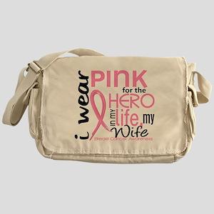 Hero In Life 2 Breast Cancer Messenger Bag