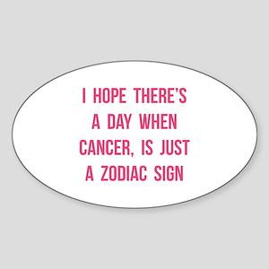 Cancer Hope Sticker (Oval)