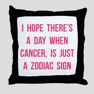Cancer Hope Throw Pillow
