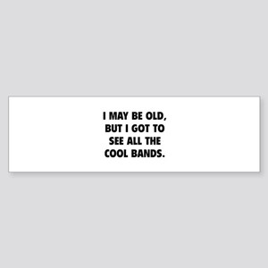 All The Cool Bands Sticker (Bumper)