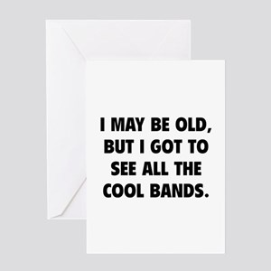 All The Cool Bands Greeting Card