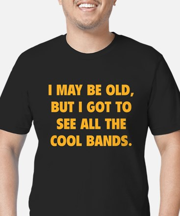All The Cool Bands Men's Fitted T-Shirt (dark)
