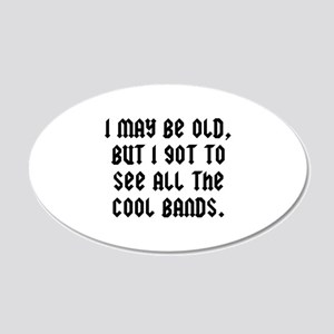 All The Cool Bands 22x14 Oval Wall Peel