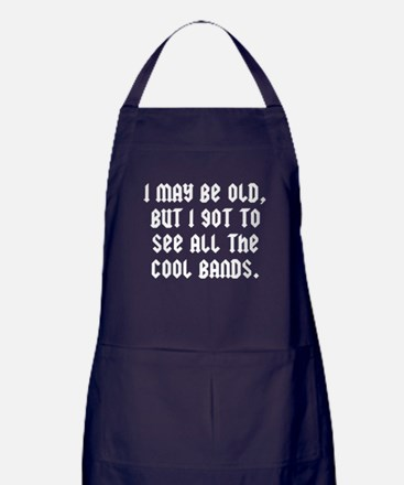 All The Cool Bands Apron (dark)