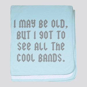 All The Cool Bands baby blanket