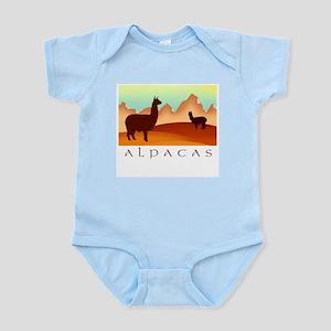 alpacas / mountains Infant Creeper