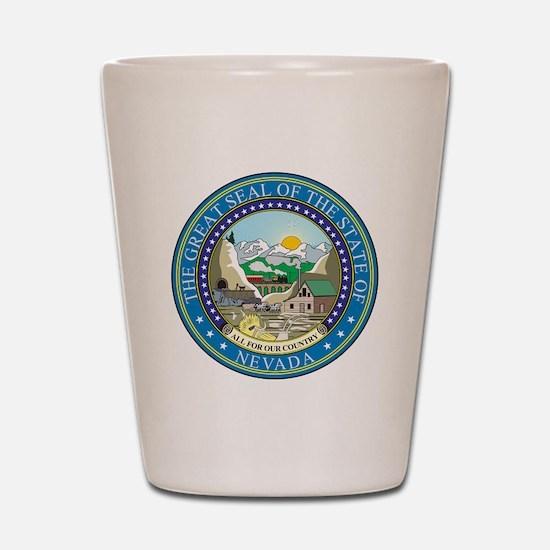 Nevada State Seal Shot Glass
