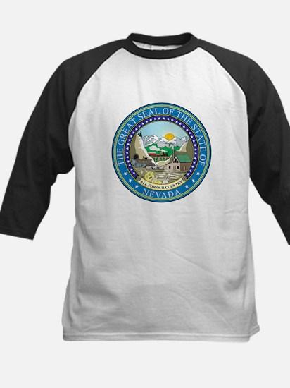 Nevada State Seal Kids Baseball Jersey