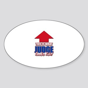 This is what Judge looks like Sticker (Oval)