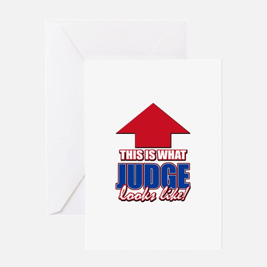 This is what Judge looks like Greeting Card
