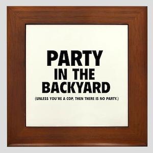 Party In The Backyard Framed Tile