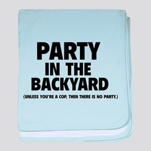 Party In The Backyard baby blanket