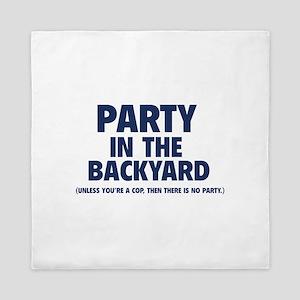 Party In The Backyard Queen Duvet