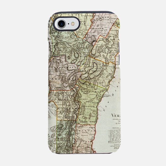 Vintage Map of Vermont (1797) iPhone 7 Tough Case