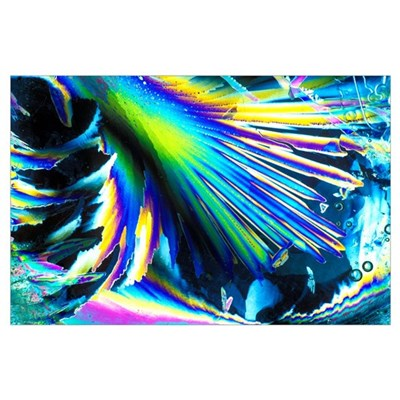 Melting ice crystals Poster