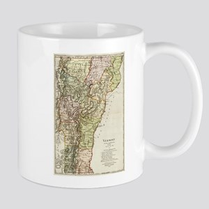 Vintage Map of Vermont (1797) Mugs
