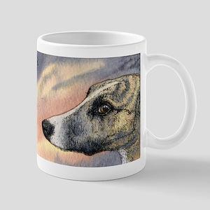 Brindle whippet greyhound dog Mug