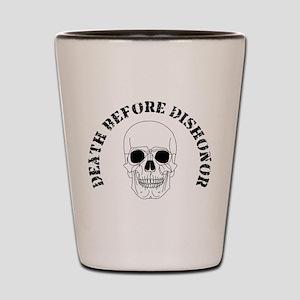 Skull - Death Before Dishonor 007 Shot Glass