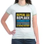 Repeal And Replace Obamacare Jr. Ringer T-Shirt