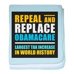 Repeal And Replace Obamacare baby blanket
