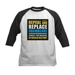 Repeal And Replace Obamacare Kids Baseball Jersey